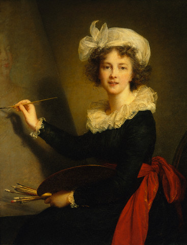 1790 --- Self-Portrait by Elisabeth Louise Vigee-Lebrun --- Image by © Summerfield Press/CORBIS