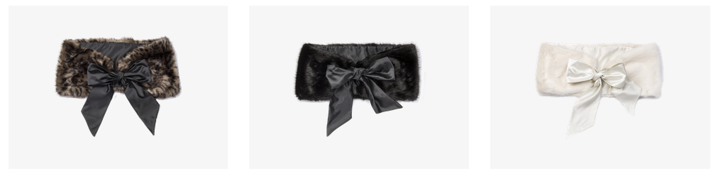 cornelia james faux fur shrugss