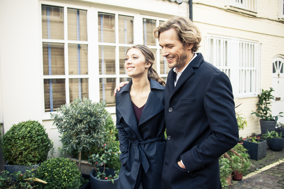 EMEL and ARIS coats couple Technology and Fashion Merge Beautifully into Smart Coats by EMEL AND ARIS EAT LOVE SAVOR International luxury lifestyle magazine and bookazines