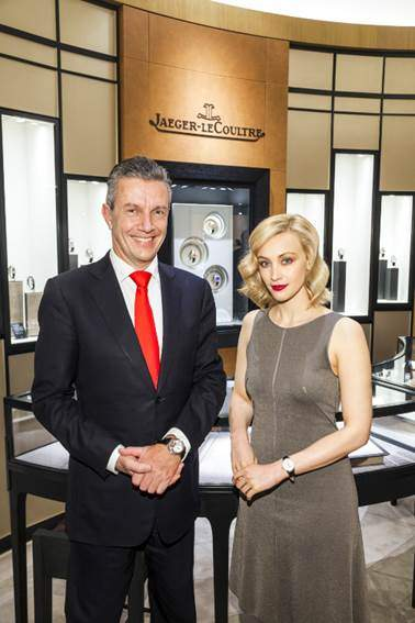 Jaeger LeCoultre CEO Daniel Riedo and actress Sarah Gadon - EAT LOVE SAVOR luxury lifestyle magazine
