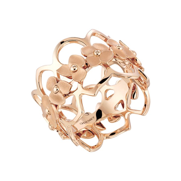 EAT LOVE SAVOR Luxury Lifestyle Magazine - Pink gold Hortensia ring Chaumet