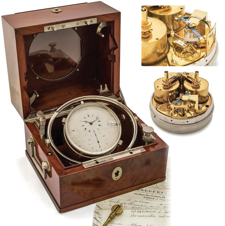 BREGUET NO. 3118 MARINE CHRONOMETER WITH REAUMUR THERMOMETER