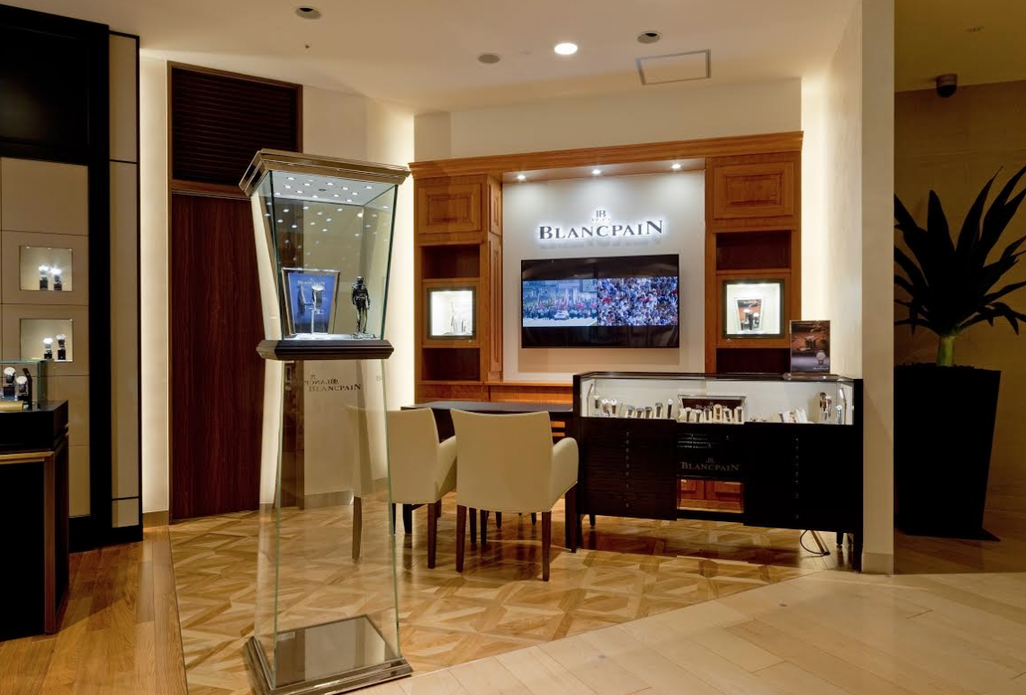 "Blancpain shop in shop Japan Blancpain Opens New ""Shop-in-Shop"" Hankyu Department Store, Osaka, Japan - EAT LOVE SAVOR International luxury lifestyle magazine and bookazines"