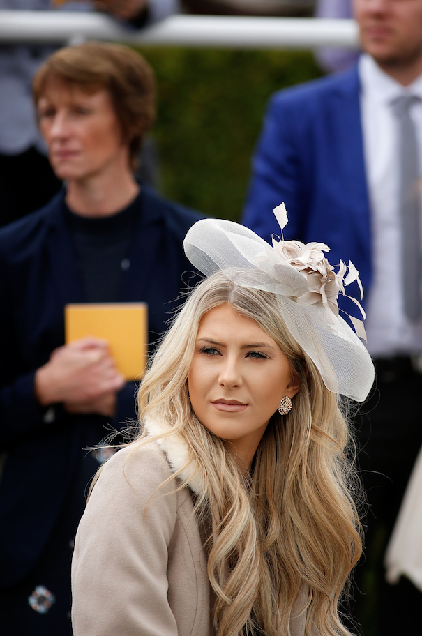 qatar goodwood lady beige hat
