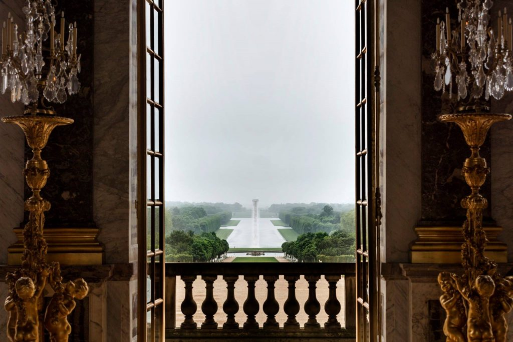 versailles view out the door to the garden