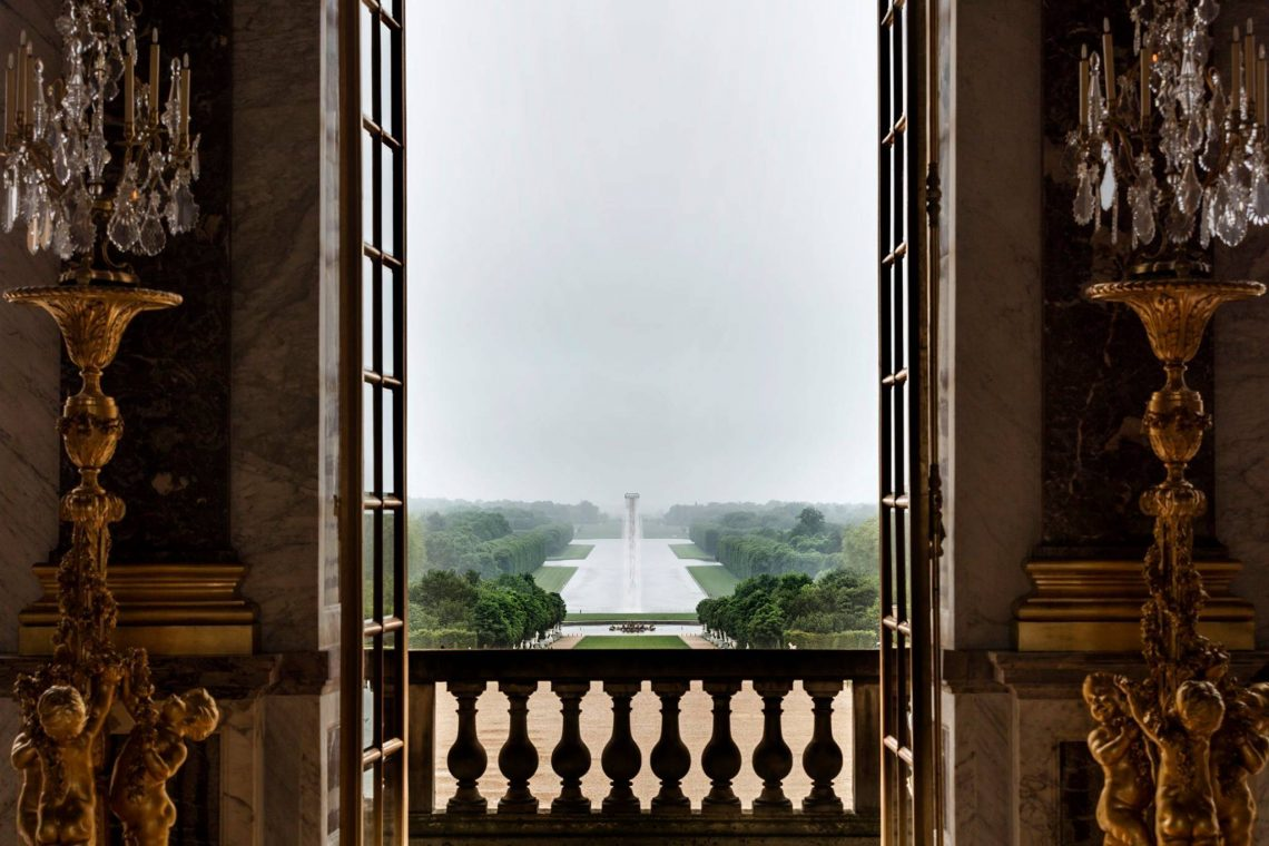 versailles view out the door to the garden Luxury Legacy: How Values of Luxury are Passed On - EAT LOVE SAVOR International luxury lifestyle magazine and bookazines