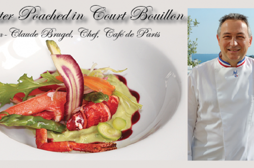 lobster court bouillon cjef jean claude cafe de paris