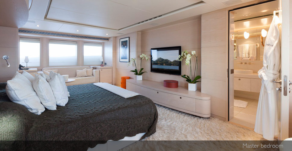 sibelle superyacht mastr bedroom
