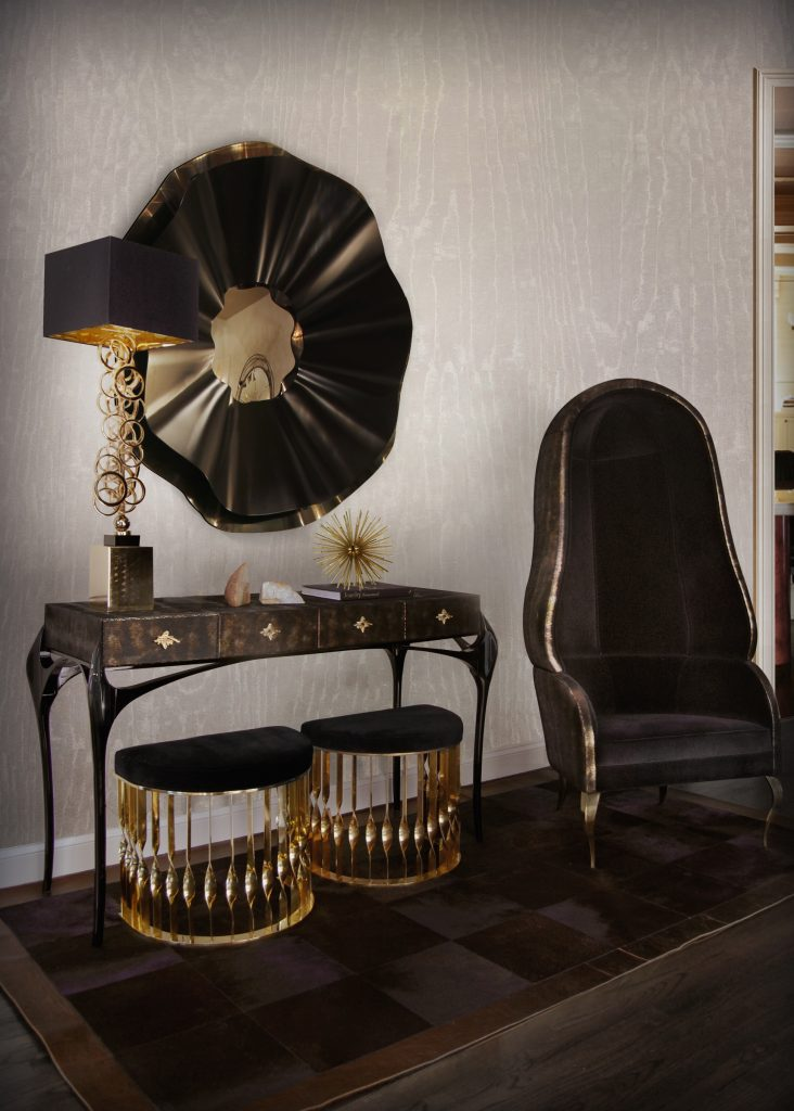 temptation-console-reve-mirror-mandy-stool-drapesse-chair-koket-projects