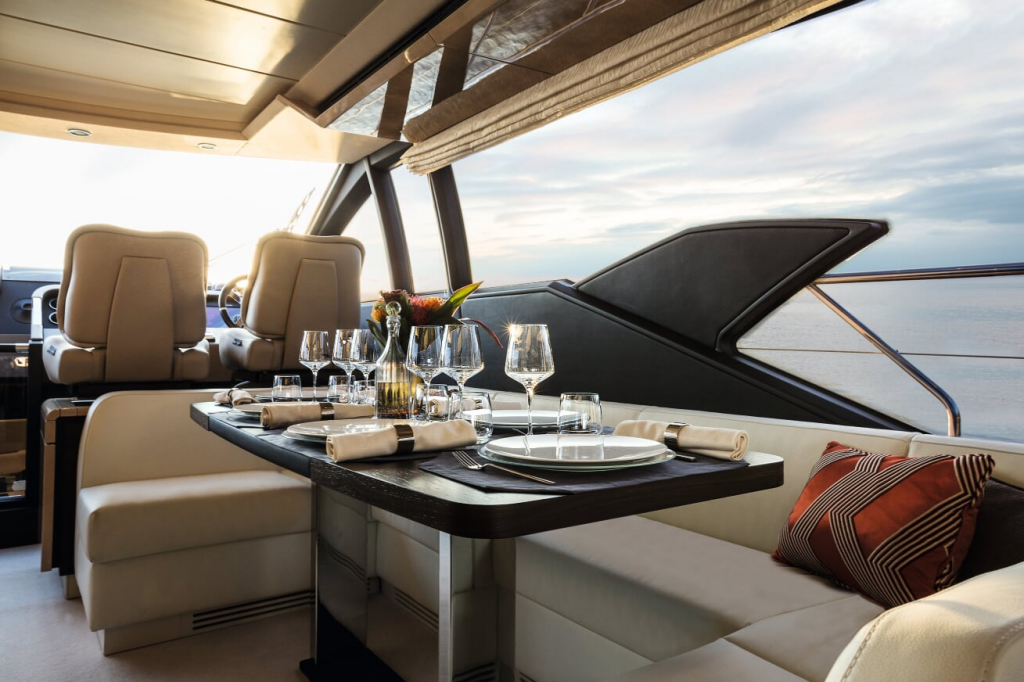 Azimut 66 Yacht Interior Table