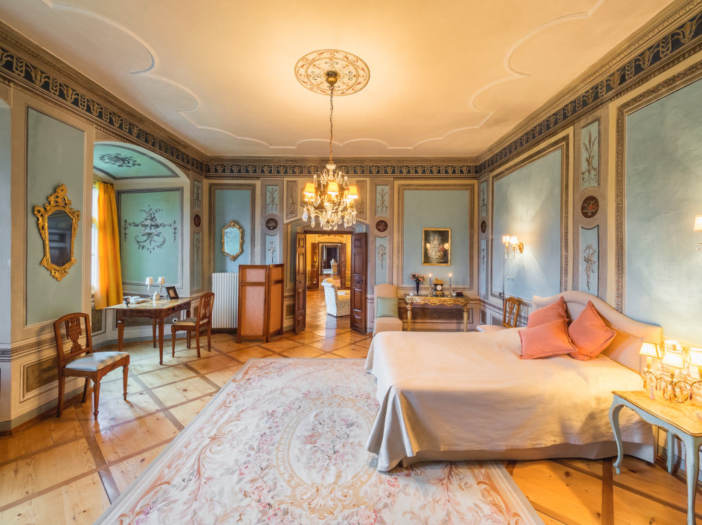 Castle Valer berdoom - eat love savor luxury lifestyle magazine