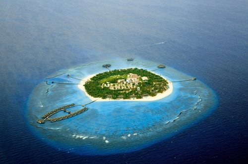 Velaa private island aerial