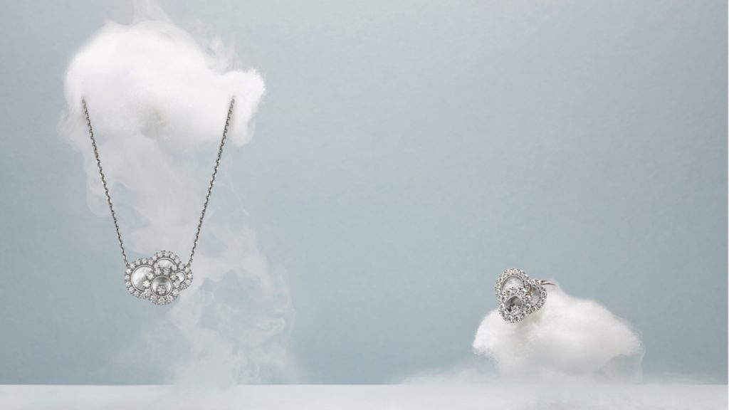 chopard happy diamonds earrings and necklace - luxury lifestyle magazine - eat love savor