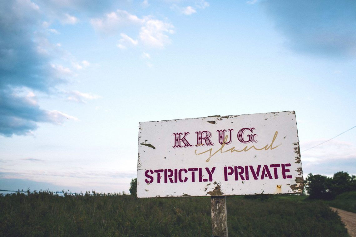 krug island sign 2 Maison Krug Fuses Michelin Starred Food, Krug Champagne and Original Live Music on Krug Island - EAT LOVE SAVOR International luxury lifestyle magazine and bookazines