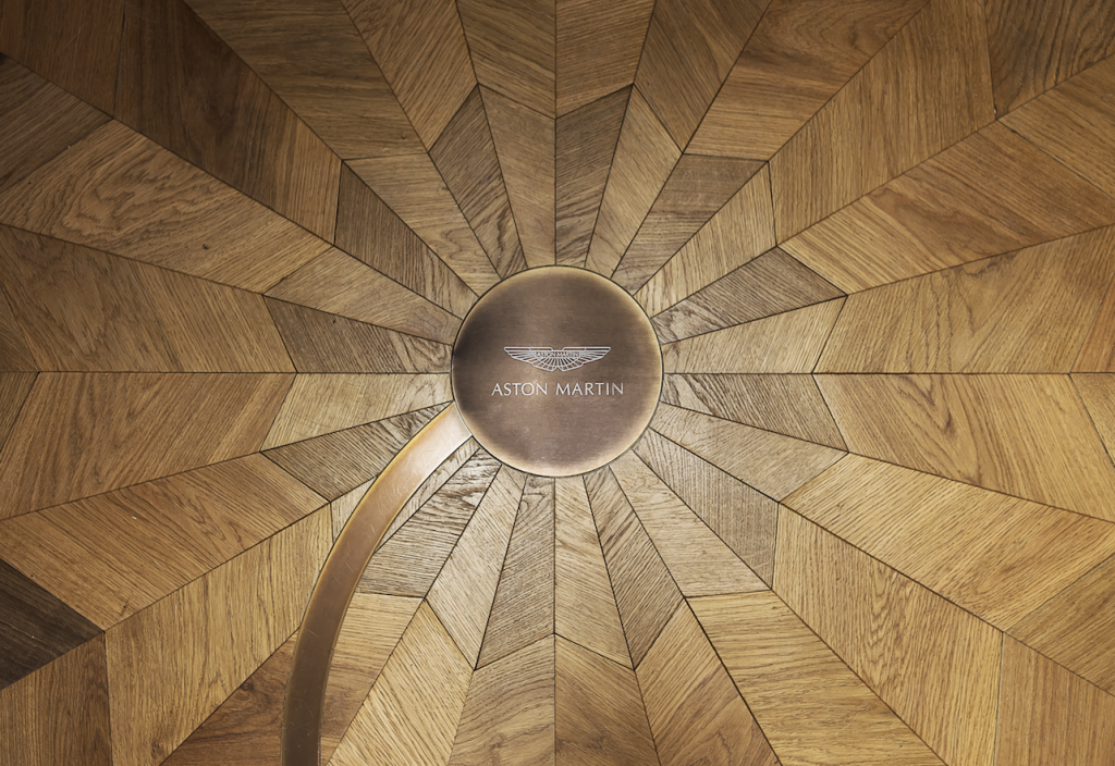 Aston Martin Spiral Floor - eat love savor luxury lifestyle magazine