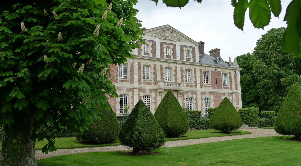 French Chateau-haute-normandie-front view - eat love savor luxury lifestyle magazine