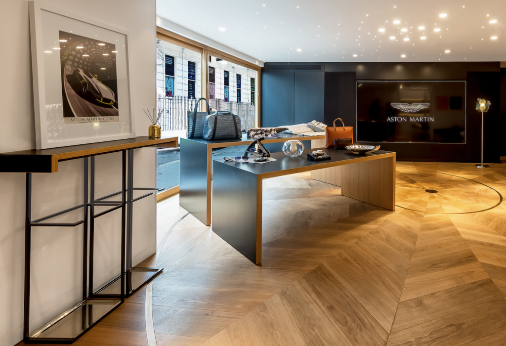 interior-aston-martin-boutique - eat love savor luxury lifestyle magazine