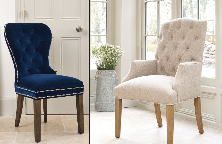 Bespoke Dining Chairs With Romo Fabrics Made In The UK