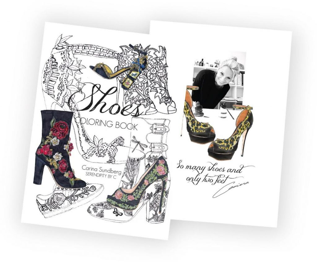Fun Book for Shoes and Fashion Lovers by Illustrator Carina Sundberg