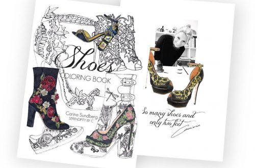 shoes coloring book Fun Book for Shoes and Fashion Lovers by Illustrator Carina Sundberg - EAT LOVE SAVOR International luxury lifestyle magazine and bookazines