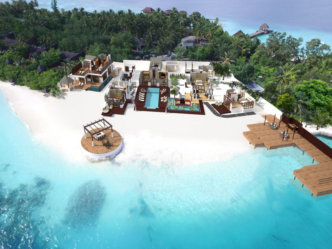 RR Aerial View Jumeirah Vittaveli Unveils 5-Bedroom Royal Residence - EAT LOVE SAVOR International luxury lifestyle magazine and bookazines