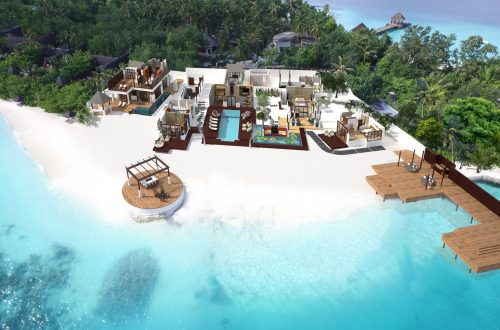 RR Aerial View Jumeirah Vittaveli Unveils 5-Bedroom Royal Residence EAT LOVE SAVOR International luxury lifestyle magazine and bookazines