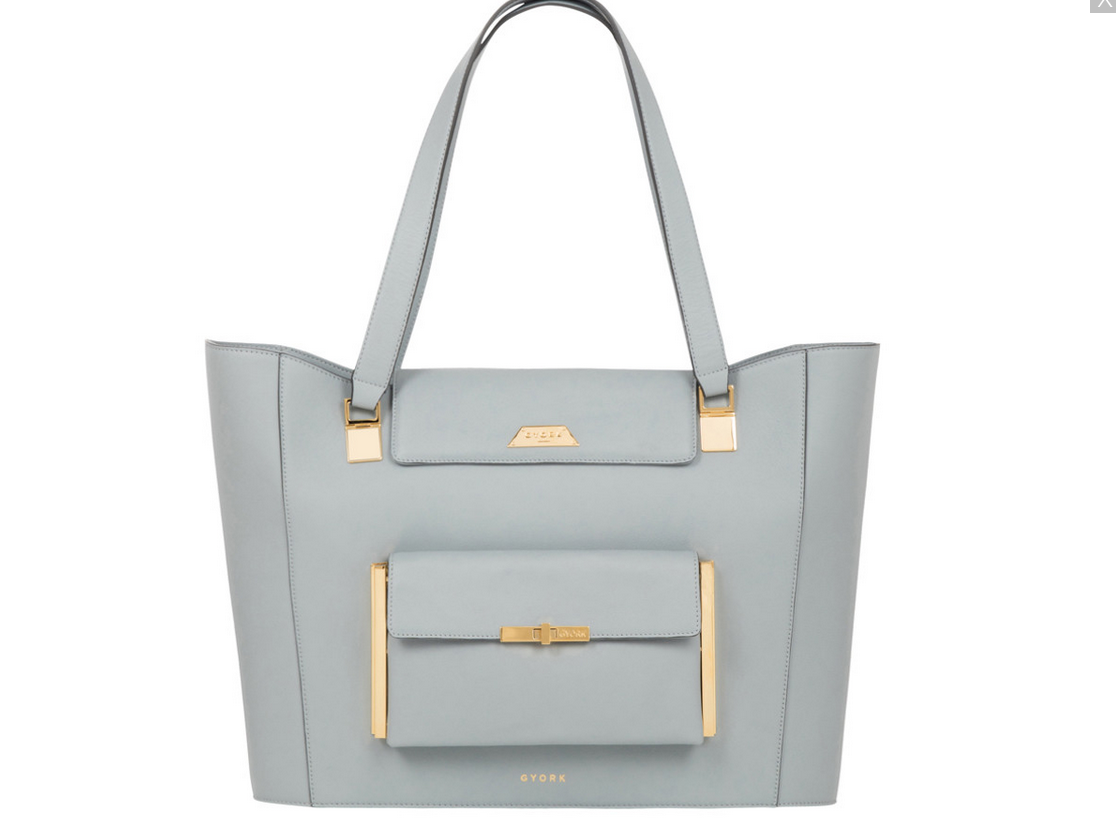 GYORK Kensington demi tote in calf leather Discover GYORK London, Luxury Handbags for Modern Women on the Move - EAT LOVE SAVOR International luxury lifestyle magazine and bookazines