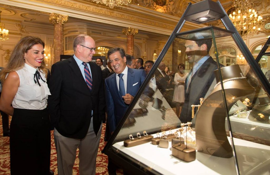 top-marques-prince-of-monaco-at-display-case - eat love savor luxury lifestyle magazine