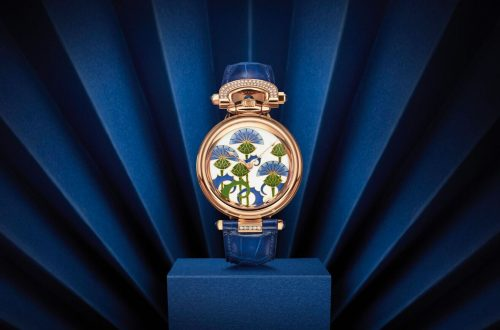 bovet blue burdocks Flowers and Fields Adorn Beautiful BOVET 1822 Timepieces - EAT LOVE SAVOR International luxury lifestyle magazine and bookazines