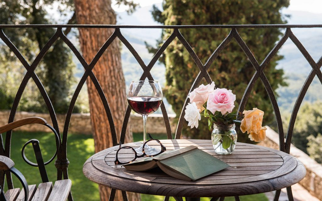 borgo pignano table outside Escape to Italy: Borgo Pignano : Elegance and History in Tuscany - EAT LOVE SAVOR International luxury lifestyle magazine and bookazines