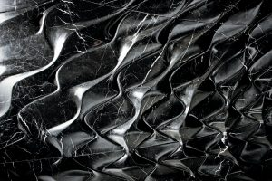Lace' marble sculptural panel part of a limited edition series built from designs by Zaha Hadid Architects presented by Citco 1 All bow for the SuperYacht Gallery at Saatchi London - EAT LOVE SAVOR International luxury lifestyle magazine and bookazines
