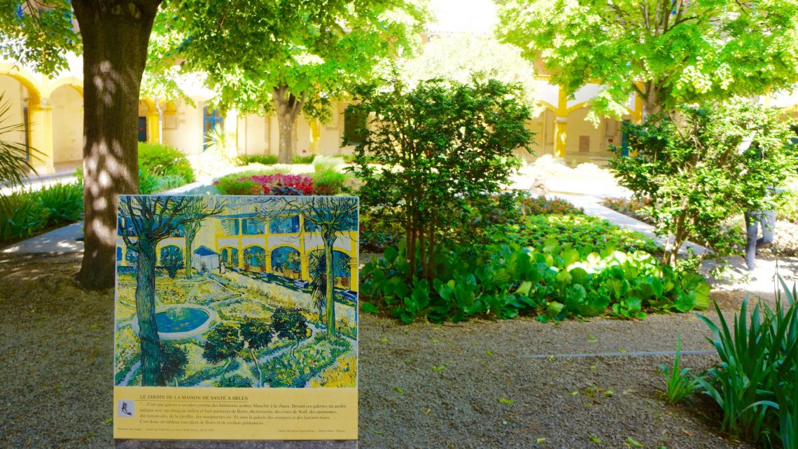 1Hotel Dieu Courtyard van Gogh A Sensory Remembrance: A Déjà-vu Awakening in Arles, France - EAT LOVE SAVOR International luxury lifestyle magazine and bookazines
