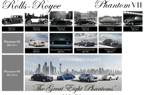 ROLLS ROYCE PHANTOM exhibition A Rolls-Royce Exhibition: A Gathering Of The Greatest Phantoms In History, 'The Great Eight Phantoms' EAT LOVE SAVOR International luxury lifestyle magazine and bookazines