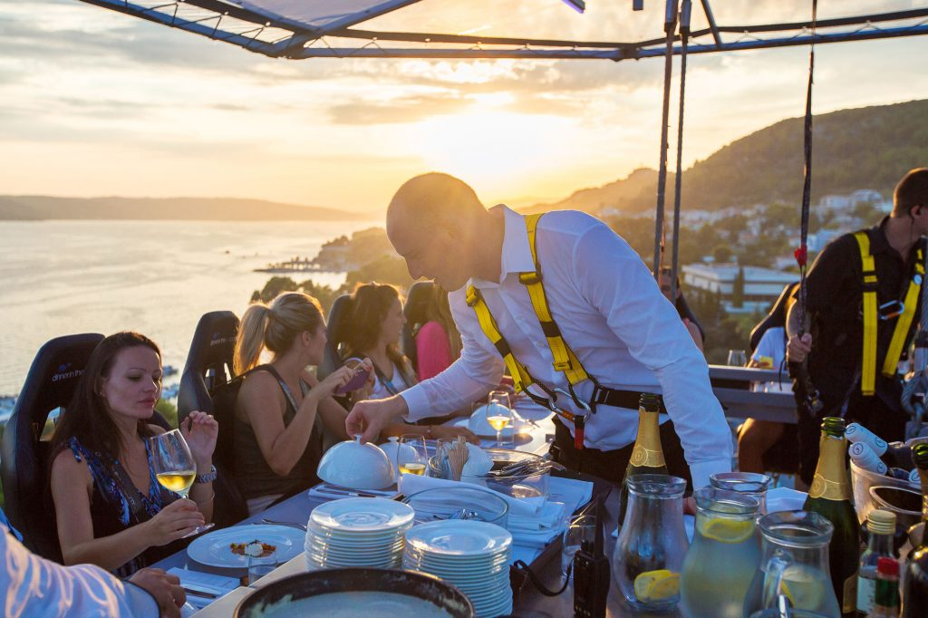 A Collision Of Gastronomic Sparks M Above Monaco Dinner In The - Dinner in the sky an unforgettable experience