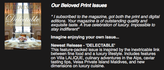delectable issue promo Distilling the Essence: The AmaWaterways Wine-Themed Cruise - EAT LOVE SAVOR International luxury lifestyle magazine and bookazines