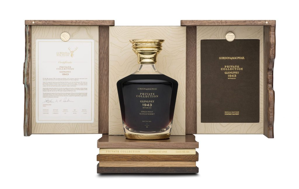 Discover Rare and  Exclusive Glenlivet Single Malt 1943 by Gordon & MacPhail