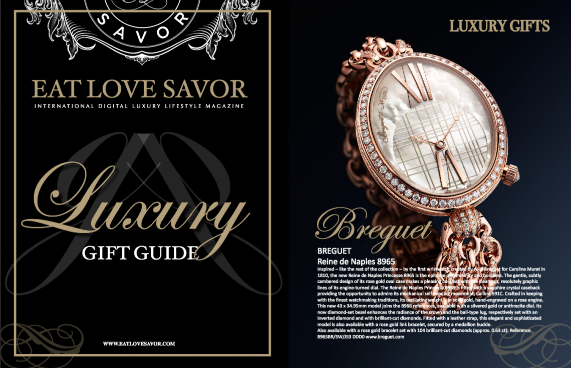 cover and first page gift guide 2017 Elegant Luxury Gift Guide - EAT LOVE SAVOR International luxury lifestyle magazine and bookazines