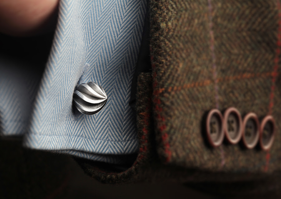 Luxury Brief: Hallmarked Silver Cufflinks by Grant Macdonald