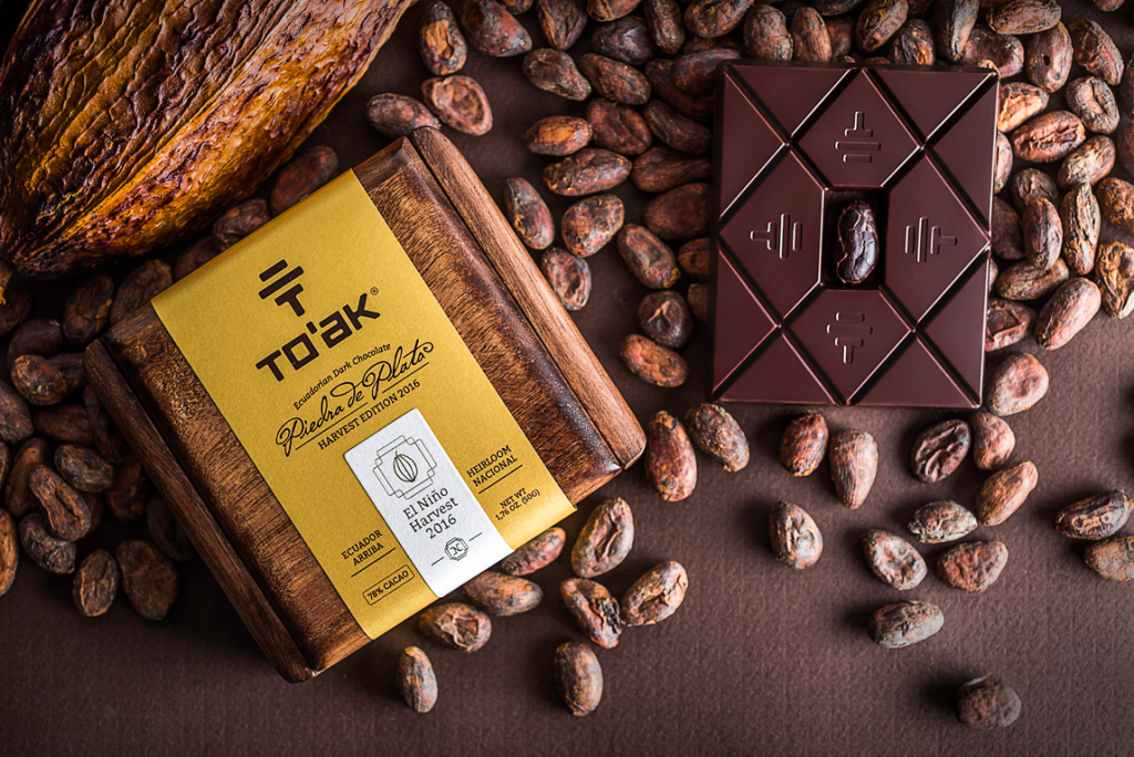 toak chocolate el nino NH16 wooden box with chocolate bar and beans Oldest and Rarest Cacao Variety on Earth Yields Two New Ground-breaking Editions by To'ak Chocolate - EAT LOVE SAVOR International luxury lifestyle magazine and bookazines