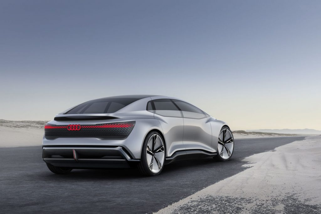 audi aicon back end view Luxury Car with Eye on the Future: Audi Aicon Autonomous Concept Car - EAT LOVE SAVOR International luxury lifestyle magazine and bookazines