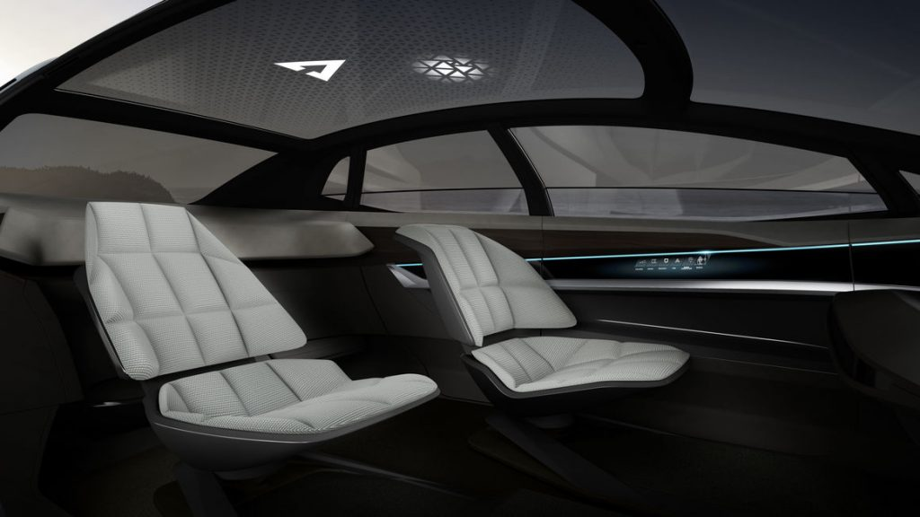 audi aicon concept car interior2 Luxury Car with Eye on the Future: Audi Aicon Autonomous Concept Car - EAT LOVE SAVOR International luxury lifestyle magazine and bookazines