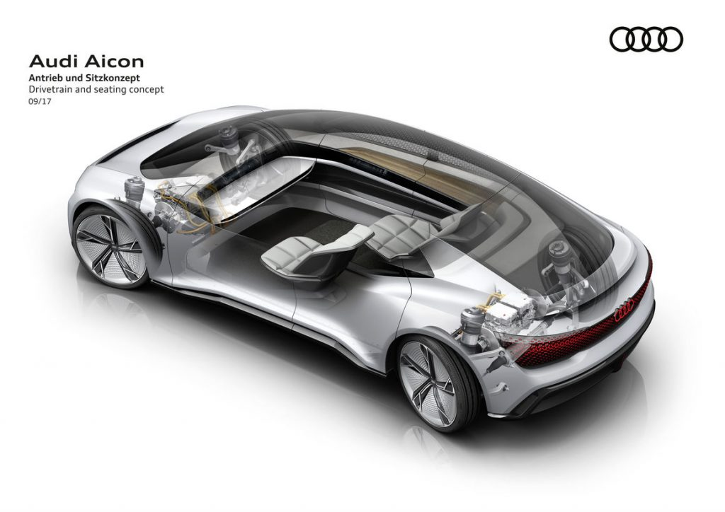 audi aicon drivetrain and seating Luxury Car with Eye on the Future: Audi Aicon Autonomous Concept Car - EAT LOVE SAVOR International luxury lifestyle magazine and bookazines