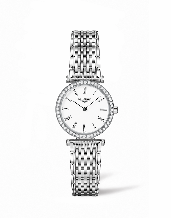 grand classique longines roman numerals white face TIMEPIECES: The Elegance of La Grande Classique de Longines - EAT LOVE SAVOR International luxury lifestyle magazine and bookazines
