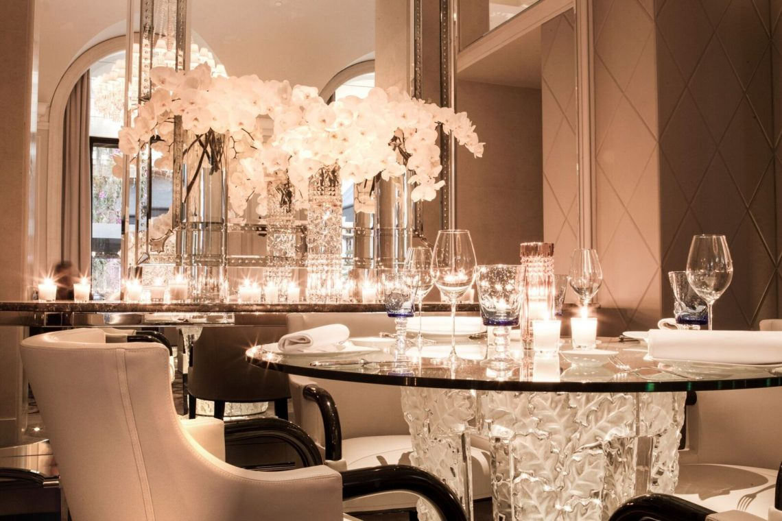Restaurant Le George V Lalique detail verre ©Eddy Briere HD preview LALIQUE Interior Design Studio Bespoke Luxury Architectural Projects in Tokyo and Paris EAT LOVE SAVOR International luxury lifestyle magazine and bookazines