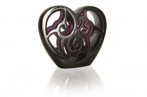 HD MUSIC IS LOVE HEART lost wax unique piece purple crystal image1©Lalique 2018 One-Of-A-Kind LALIQUE Crystal Piece Raises $ 80,000 USD At Elton John Academy Awards Viewing Party - EAT LOVE SAVOR International luxury lifestyle magazine and bookazines