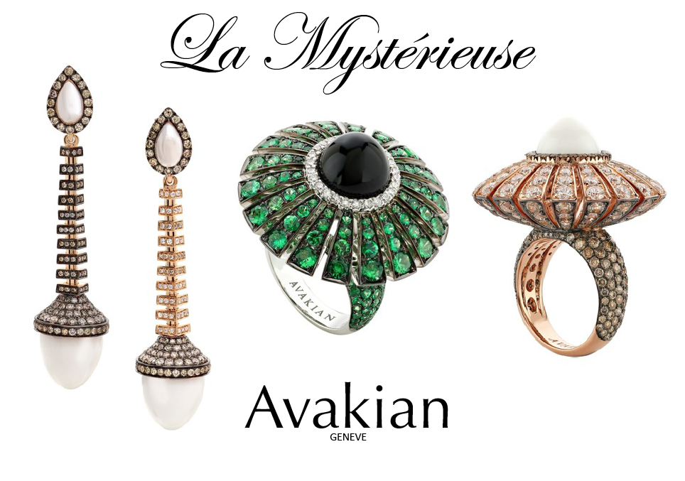 Beauty and Movement of Jewelry Collection 'La Mystérieuse' by Swiss Jewellery House of Avakian