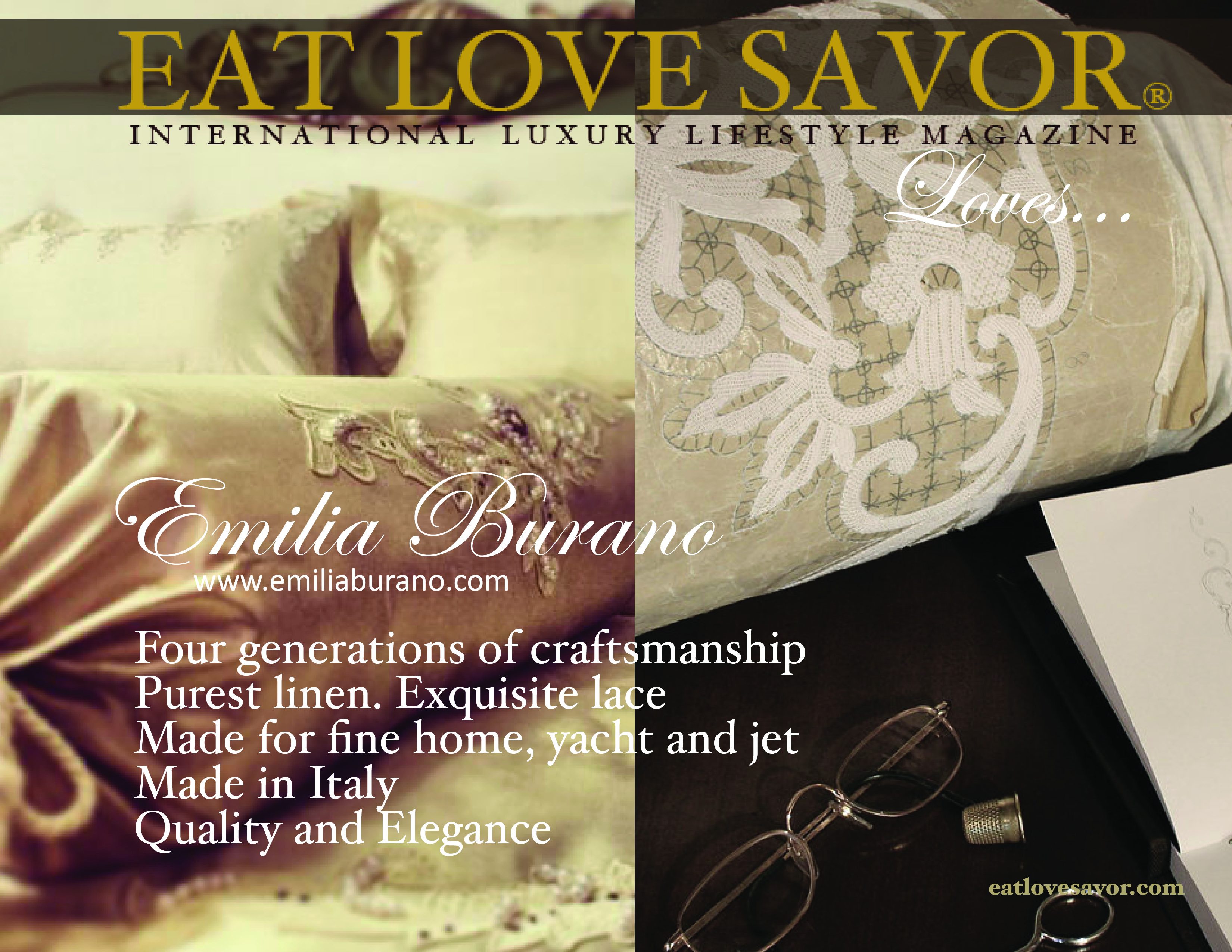 luxury lifestyle magazine - eat love savor