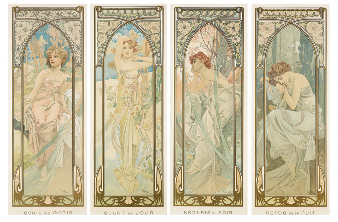 Mucha art nouveau - luxury lifestyle magazine - eat love savor