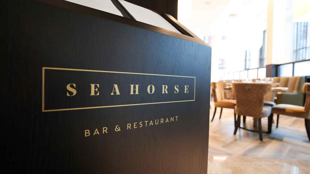 grand central hotel seahorse sign belfast The Grand Central Hotel, Belfast Boasts a Fabulous Range Of Dining Options With Executive Head Chef, Damian Tumilty - EAT LOVE SAVOR International luxury lifestyle magazine and bookazines
