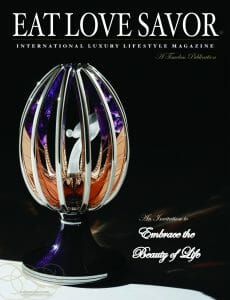 luxury lifestyle magaine - EAT LOVE SAVOR - cover